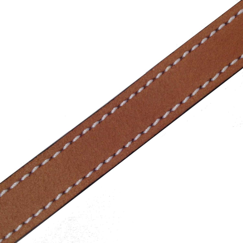 bracelet de montre lani re en cuir de qualit simple tour miel 9 mm nos promotions watchiful. Black Bedroom Furniture Sets. Home Design Ideas