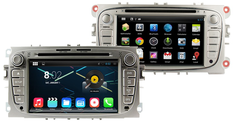 autoradio android 4 4 2 gps ford mondeo focus s max. Black Bedroom Furniture Sets. Home Design Ideas