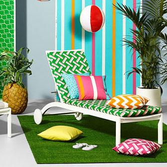 tissu ameublement exterieur motifs g om trique 1. Black Bedroom Furniture Sets. Home Design Ideas