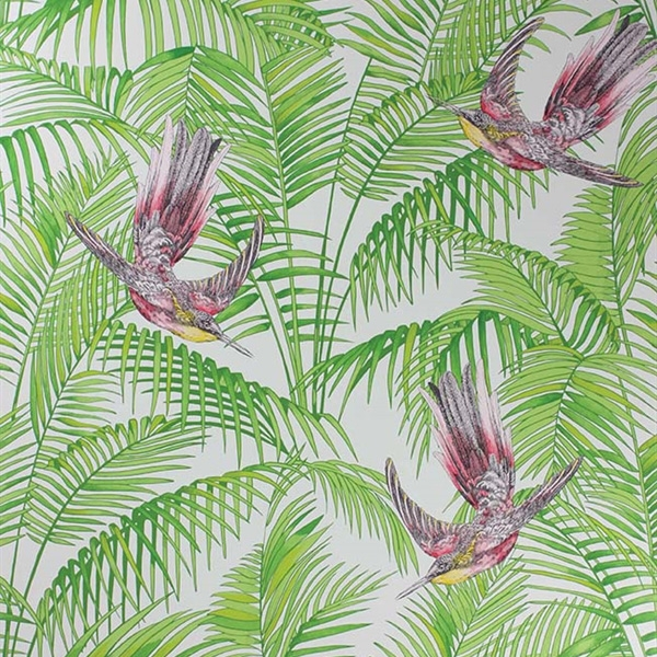 Papier peint sunbird papiers peints par diteurs matthew williamson le bo - Papier peint feuillage ...