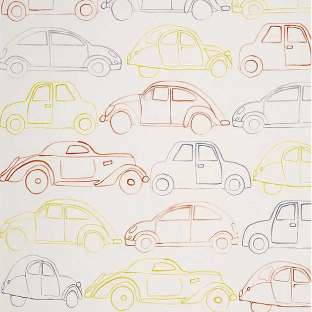 papier peint voiture enfants papiers peints le boudoir des etoffes. Black Bedroom Furniture Sets. Home Design Ideas