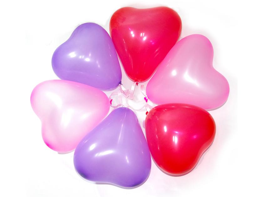 100 ballon de baudruche cœur gonflable pour décoration salle mariage ...