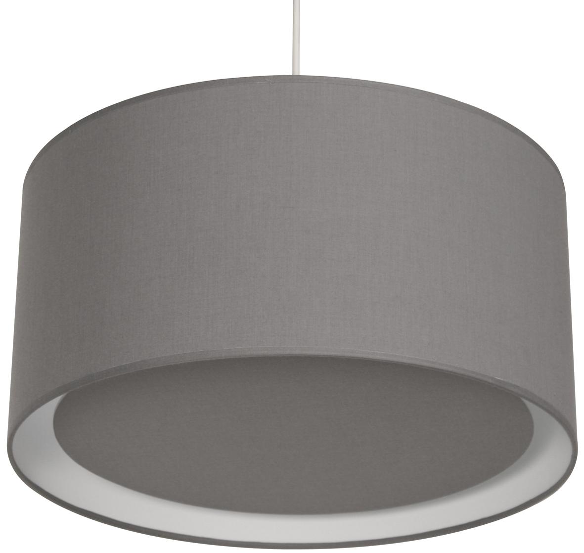 Suspension essentiel gris galet suspensions en tissu e for Suspension luminaire gris