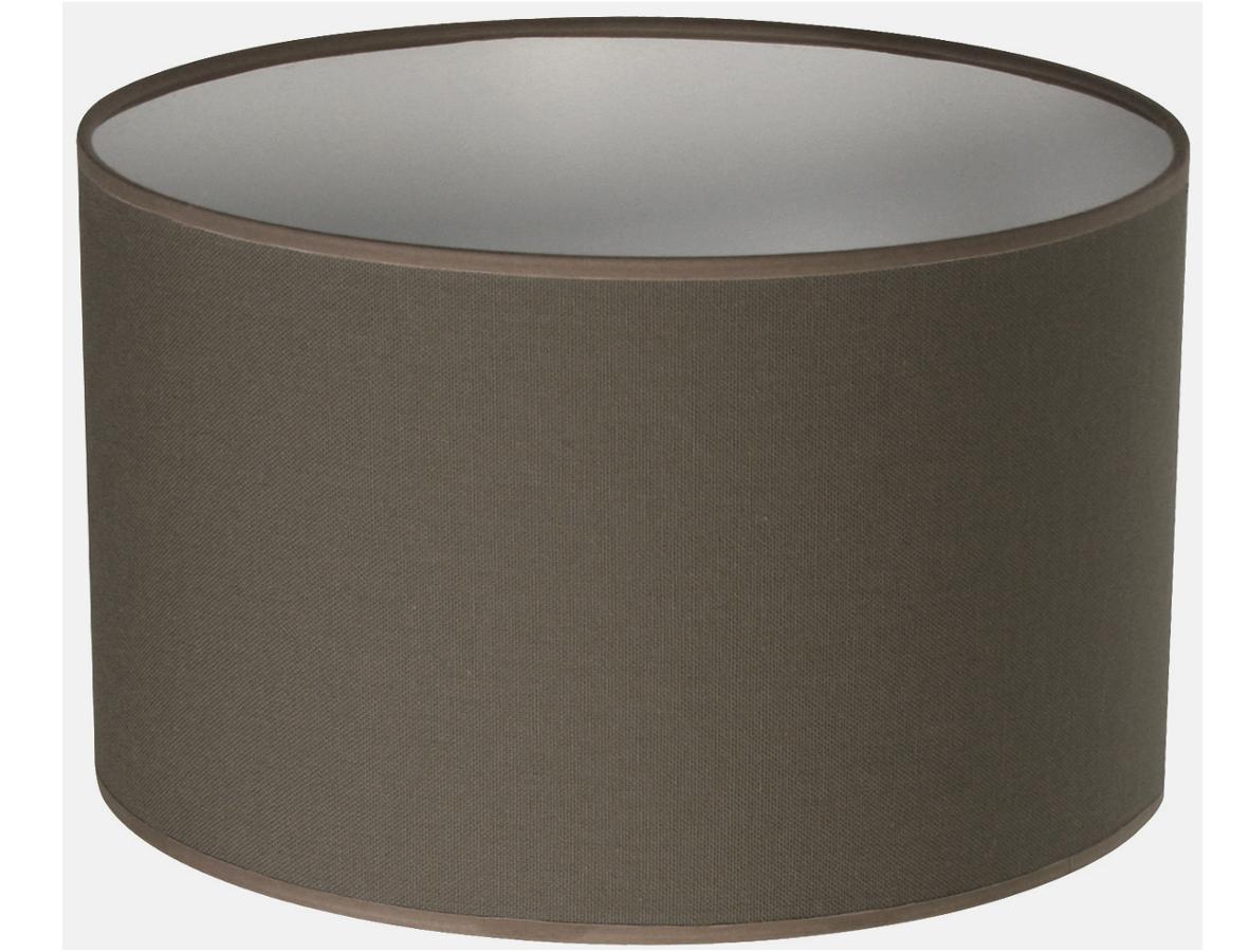 Abat jour cylindre gris poivre abat jour forme cylindrique e metropolight - Abat jour taupe ...