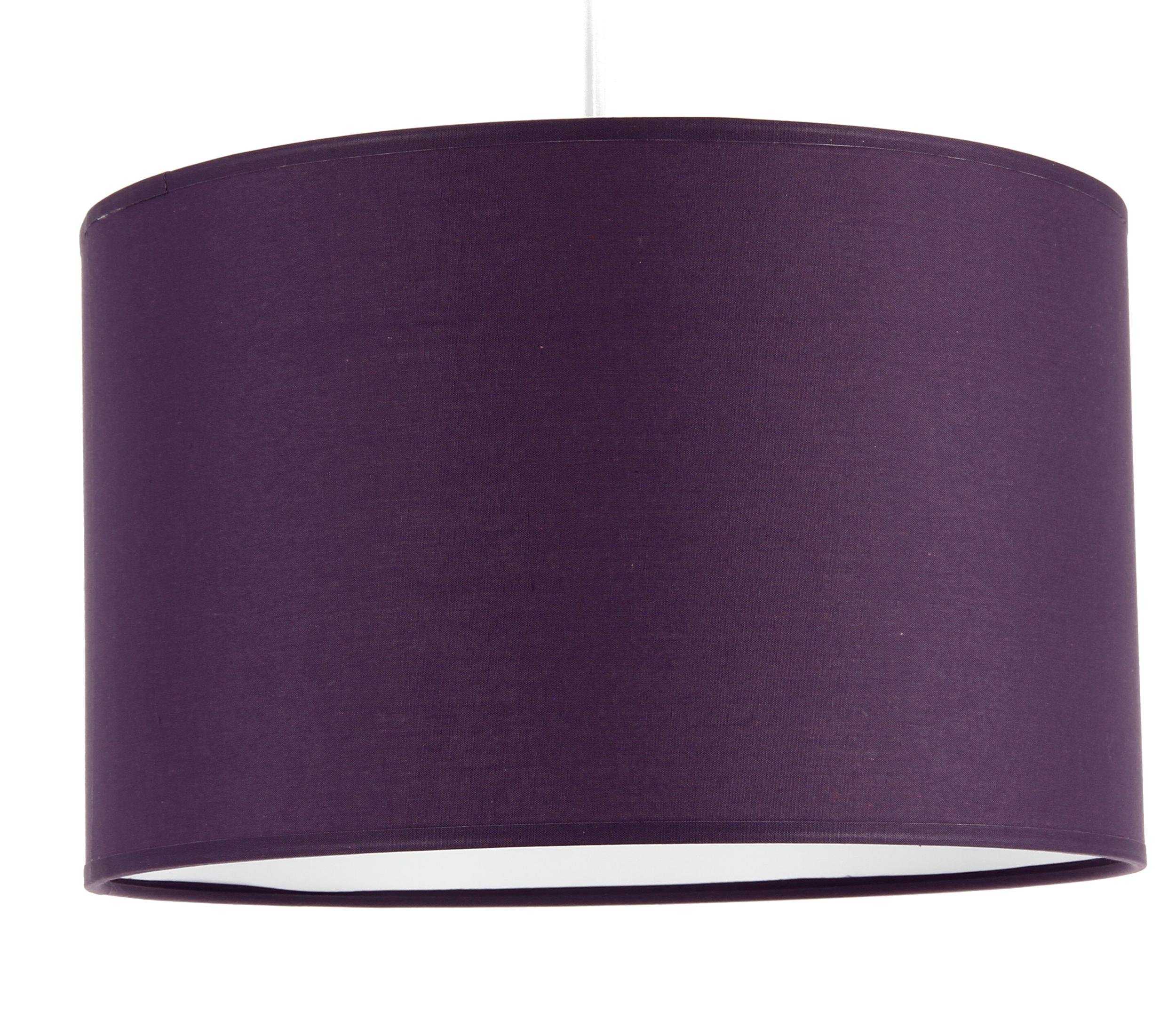 suspension cylindre coton violet suspensions en tissu e metropolight. Black Bedroom Furniture Sets. Home Design Ideas