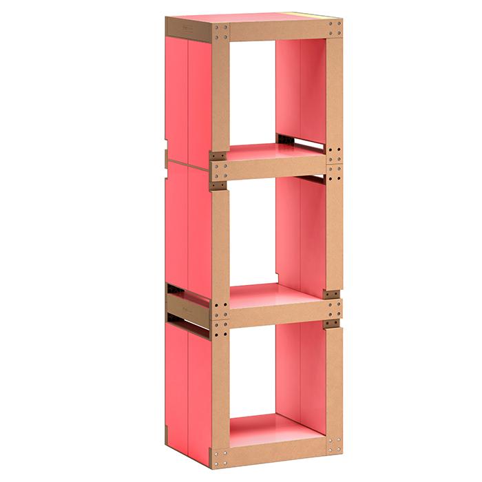 Etag re de bureau design rose structure noire ou bois for Etagere bureau professionnel