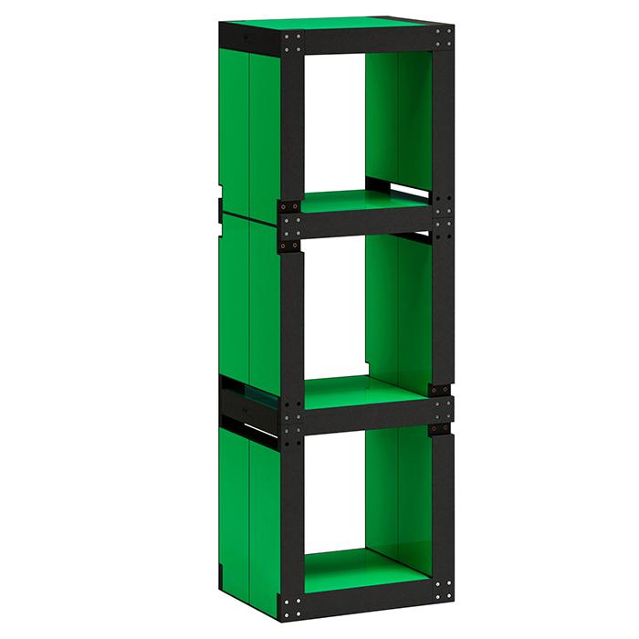 Etag re de bureau design verte structure noire ou bois - Bureau etagere design ...
