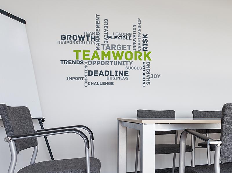 Stickers nuage de mots cl pour salle de r union for Design interieur formation
