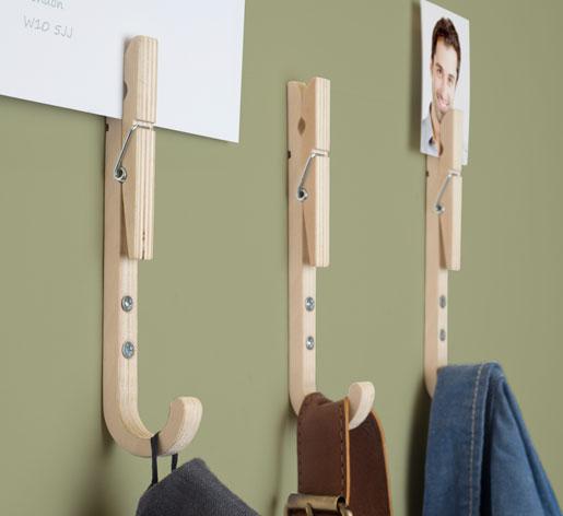 porte manteau pinces linge pour bureaux. Black Bedroom Furniture Sets. Home Design Ideas