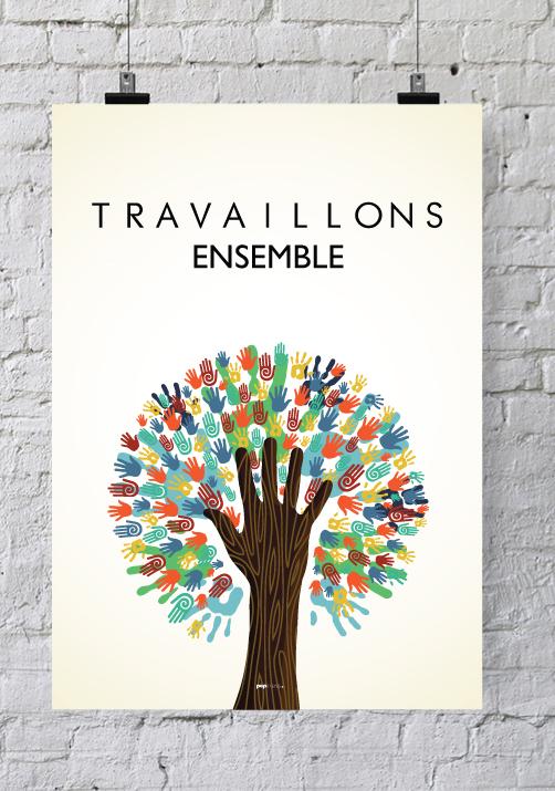 Affiche pour salle de r union travaillons ensemble - Decoration salle de reunion ...