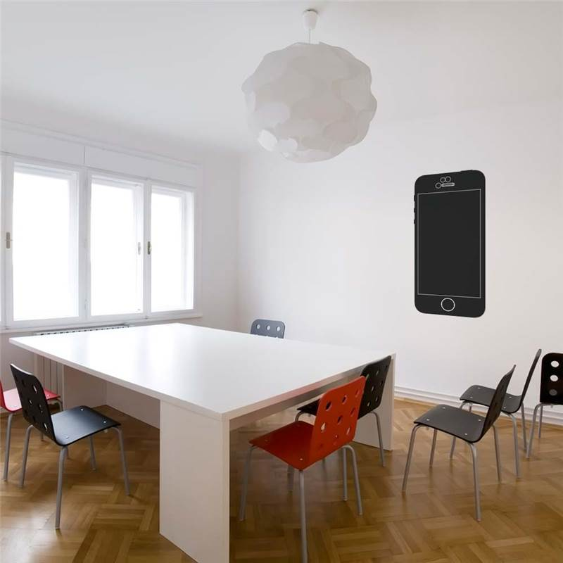stickers ardoise iphone pour bureau decoration des murs. Black Bedroom Furniture Sets. Home Design Ideas