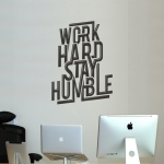 Déco murale Work Hard Stay Humble