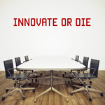 """Stickers """"Innovate or Die"""" pour bureau"""