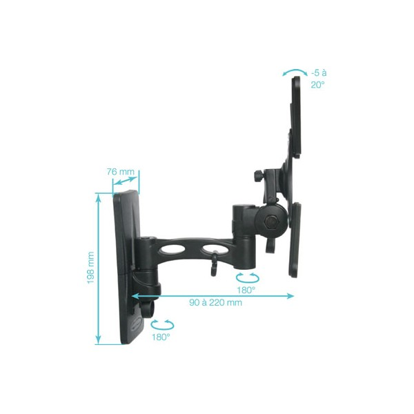Support mural pour cran plat lcd jusqu 82 cm supports - Support mural tv 117 cm ...