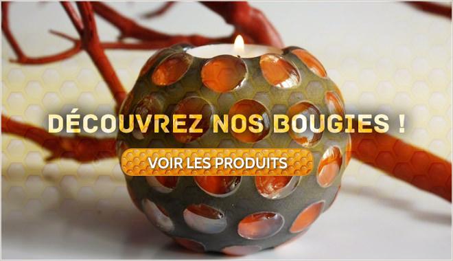 Bougies entièrement non toxiques, non polluantes, à la cire d'abeille, ou à la cire de soja,BOUGEOIRS