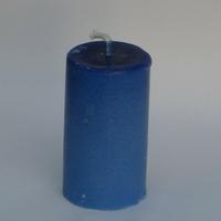 Bougie bleue ronde petite en cire de soja