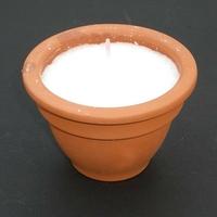 Bougie blanche en pot en cire de soja