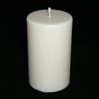 Bougie blanche ronde pilier en cire de soja