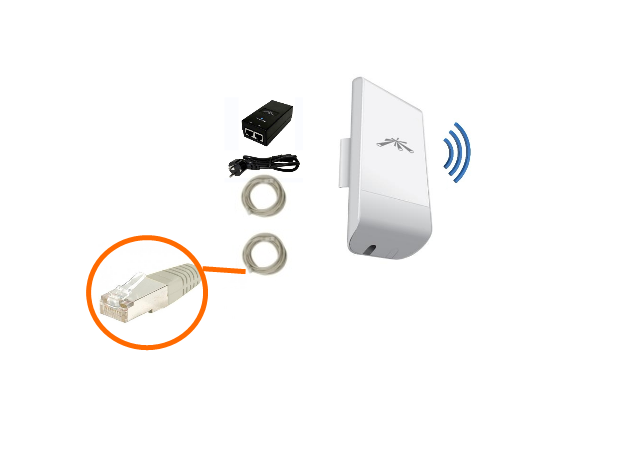 Antenne wifi rj45 8 dbi antenne wifi rj45 antennes for Repeteur wifi exterieur