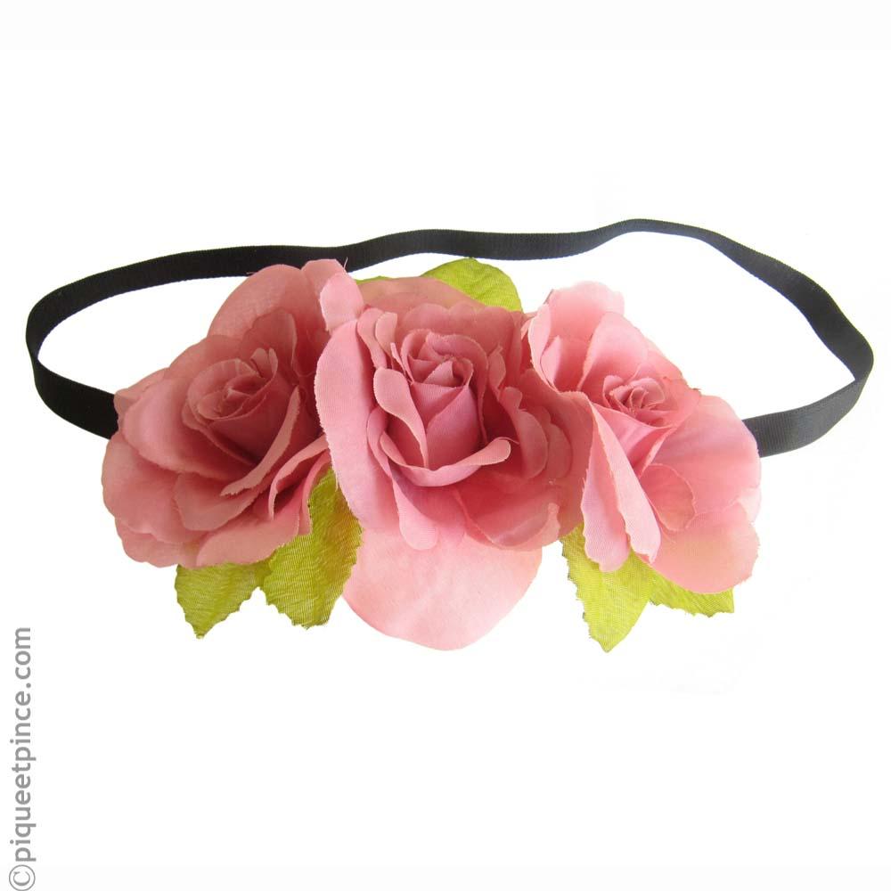 Couronne de fleurs vieux rose for Couronne de fleurs