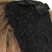 serre-tête dentelle noire