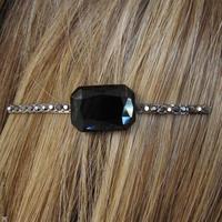 bijoux de cheveux - cristal noir - Pique et Pince copie