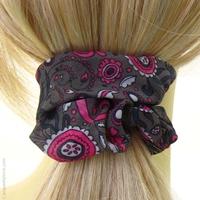 Chouchou cheveux rétro rose