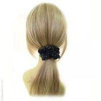 Chouchou cheveux rétro bleu