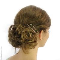 Barrette cheveux Arlequin rose pâle