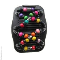 peignes noirs perles multicolores