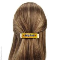 barrette à cheveux  jaune citron