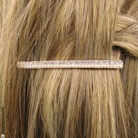 Fine barrette mini perles et strass