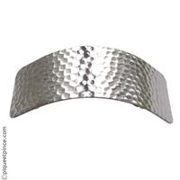 Barrette cheveux  en métal martelé argenté
