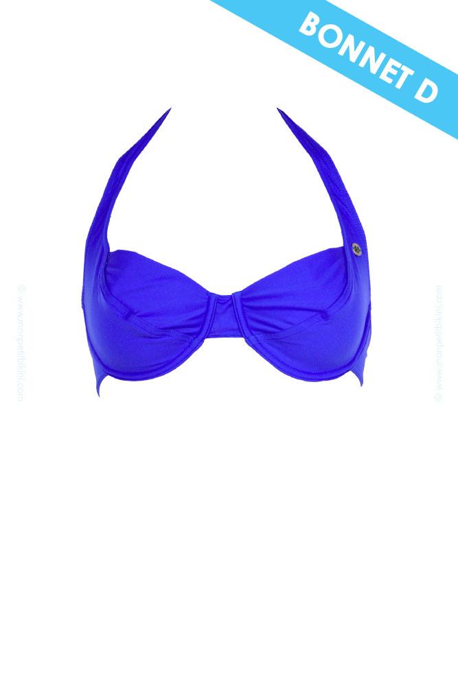 Trajes De Baño Azul Rey:Banana Moon – Top de traje de baño azul rey copa D