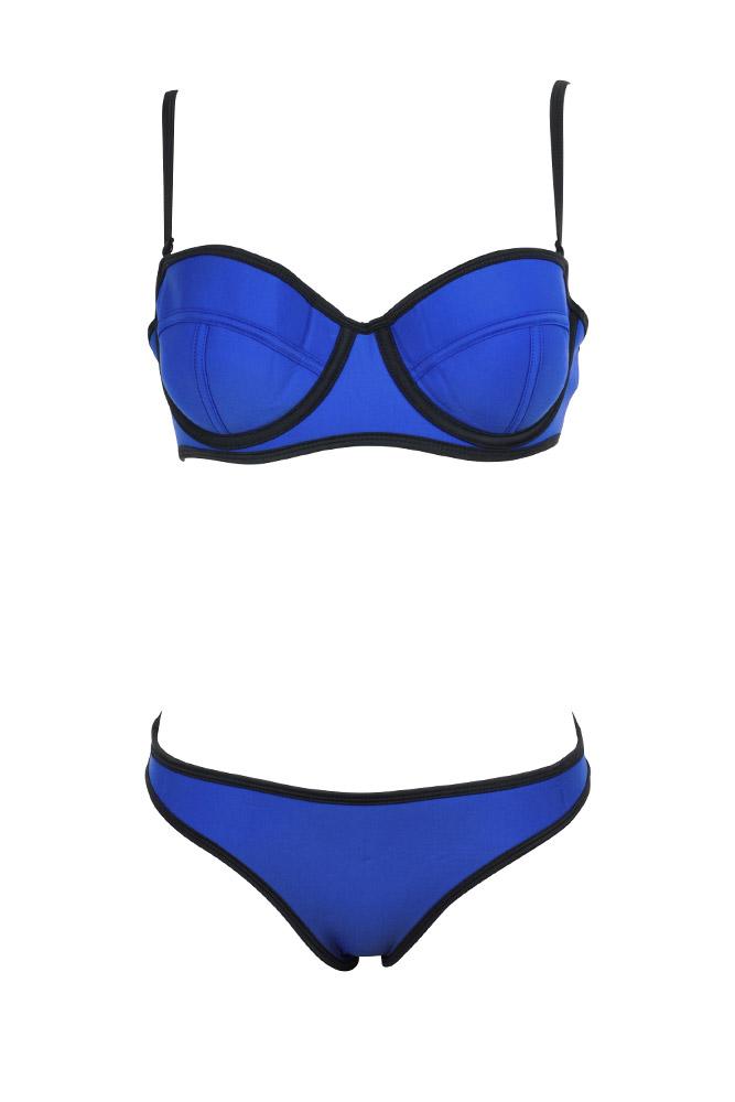 Trajes De Baño Azul Rey: el producto Traje de baño de 2 piezas balconnet en neopreno azul rey