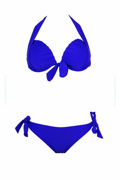 Trajes De Baño Azul Rey: sobre el producto Traje de baño de dos piezas tipo balconnet azul rey