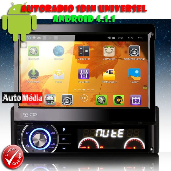 autoradio 1 din android capacitif gps wifi auto m dia. Black Bedroom Furniture Sets. Home Design Ideas