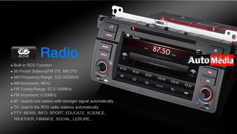 autoradio bmw s rie 3 e46 pas cher gps wifi auto m dia. Black Bedroom Furniture Sets. Home Design Ideas