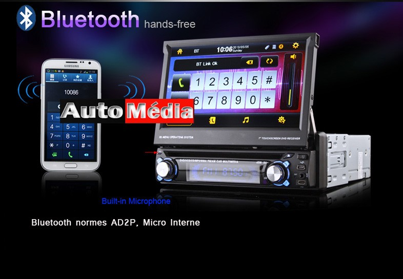 autoradio android 1 din gps dvd wifi auto m dia. Black Bedroom Furniture Sets. Home Design Ideas