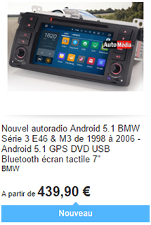 Android BMW Série 3