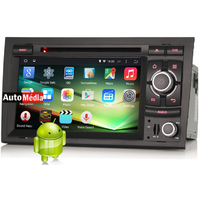 "Autoradio Android Audi A4 de 2004 à 2008 - Android 4.4.4 GPS DVD USB Bluetooth écran tactile 7"""