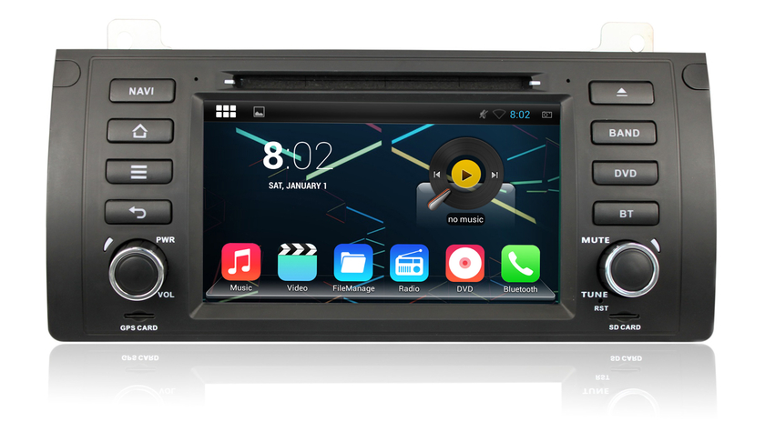 autoradio android 4 4 4 gps bmw serie 5 x5 compatible google play store auto. Black Bedroom Furniture Sets. Home Design Ideas