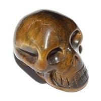 Crâne de Cristal en Oeil de tigre 35 mm