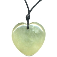 Collier Jade de Chine en Coeur Bombé 40mm