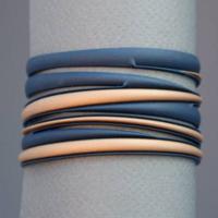 Bracelet Batucada Swell marine et or