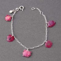 Bracelet fleurs et papillons Ribambelle argent 925ème