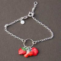 Bracelet enfant fruits rouges Ribambelle argent 925ème
