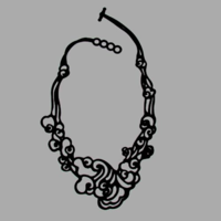 Collier Cloud - nuage - Batucada noir