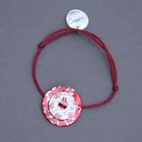 Bracelet en nacre rouge vermillon La lutine