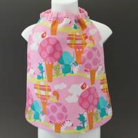 Petite serviette de table enfant 1 à 3 ans cou élastiqué Les amis Lilooka